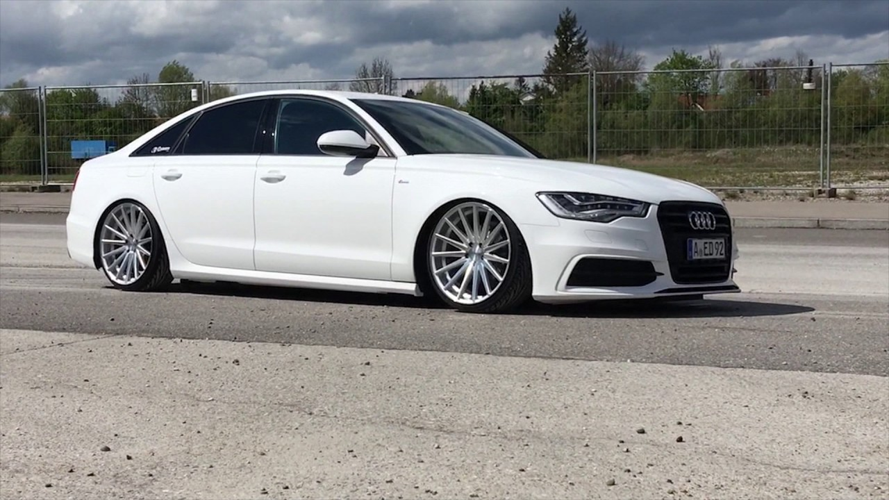 audi a6 4g h r deep vossen vfs2 youtube. Black Bedroom Furniture Sets. Home Design Ideas