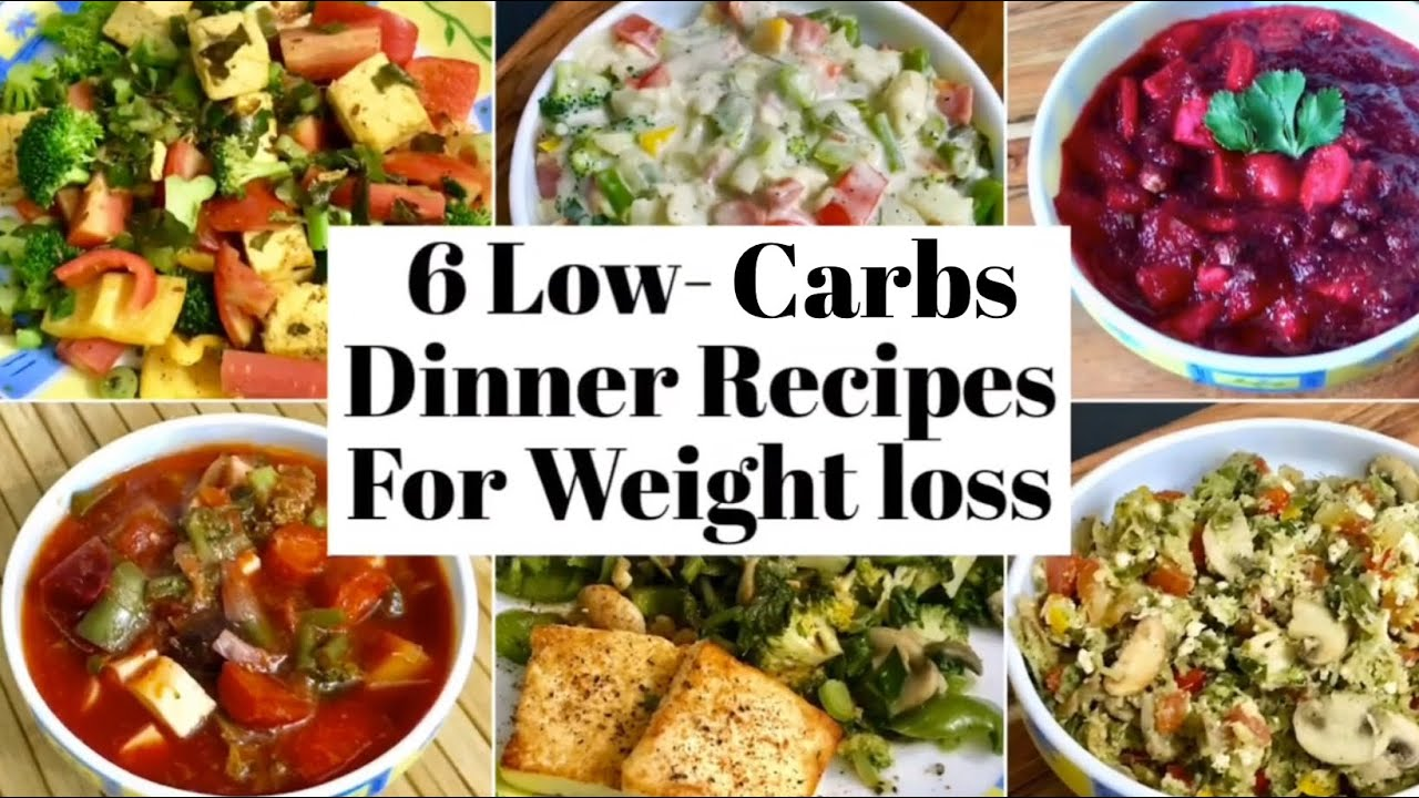 6 Low Carbs Dinner Recipes for Weight Loss | Healthy High Protein , low carbs Veg Dinner Ideas