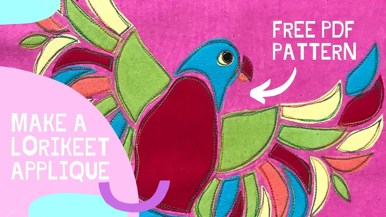 Get to know us and see how we made our Rainbow Lorikeet with sketchy free motion applique.