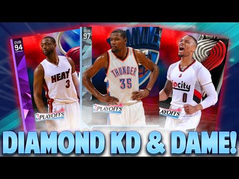 DIAMOND KEVIN DURANT & DAMIAN LILLARD! NBA 2K16 PLAYOFF PACK OPENING! AMETHYST PULLS!