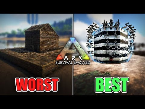 The WORST vs BEST Base Designs of 2019    Ark Survival Evolved