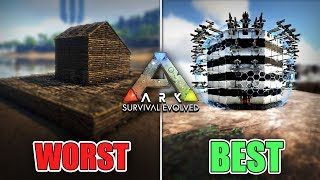 The WORST vs BEST Base Designs of 2019 || Ark Survival Evolved