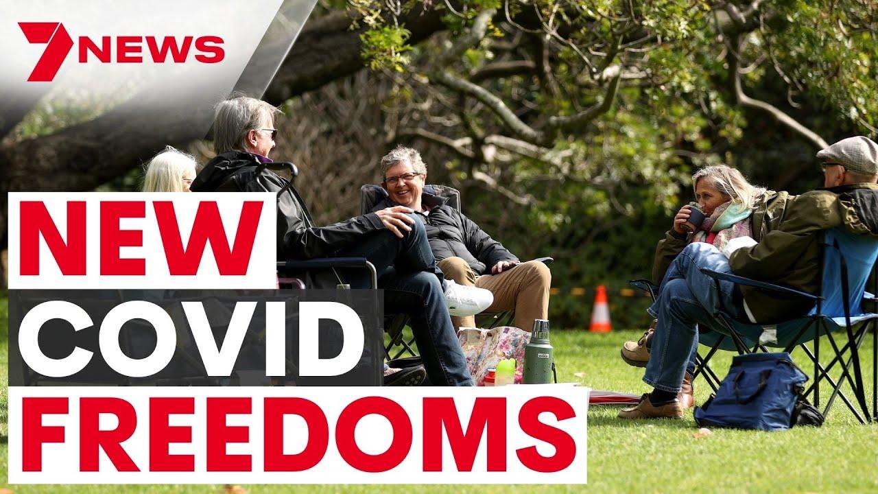 Australian COVID Update  New tastes of lockdown freedoms as vax rates soar  7NEWS