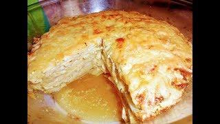 Запеканка с куриным филе ,картофелем и сыром.