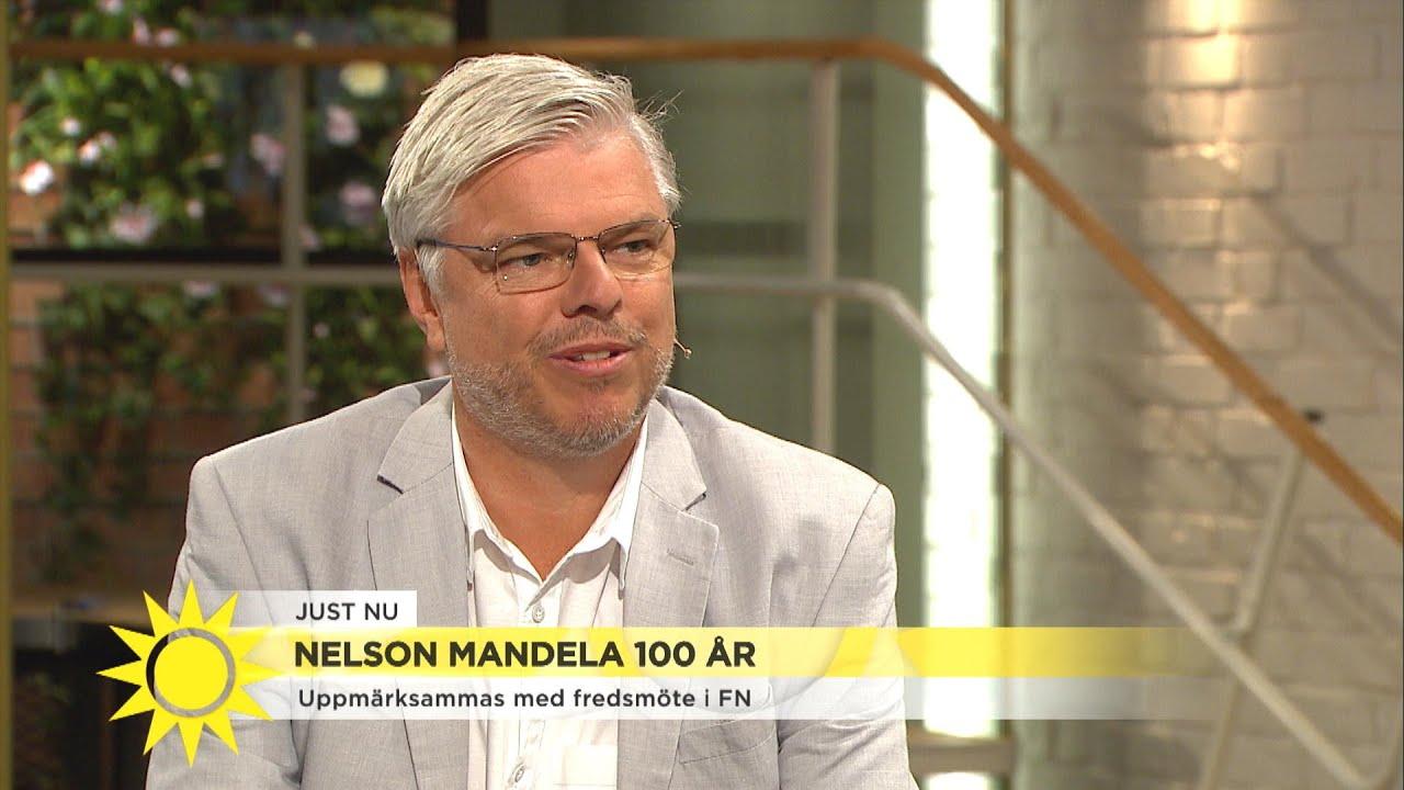 """Så minns vi Nelson Mandela: """"Han hade alltid nära till skratt"""" - Nyhetsmorgon (TV4)"""