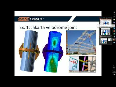 Design and code check of joint from Jakarta velodrome
