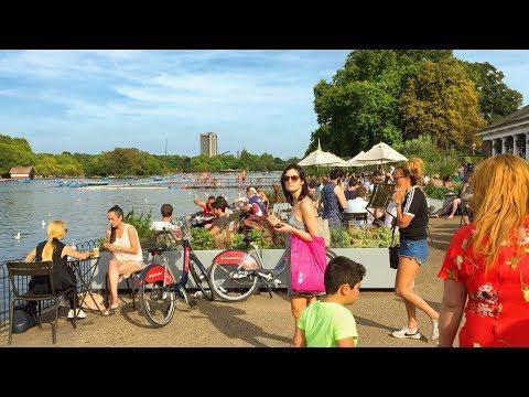 LONDON WALK | Hyde Park from Princess Diana Memorial Fountain to Hyde Park Corner | England