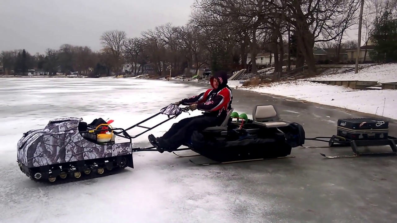 Snowdog ice fishing doovi for Ice trek fish house