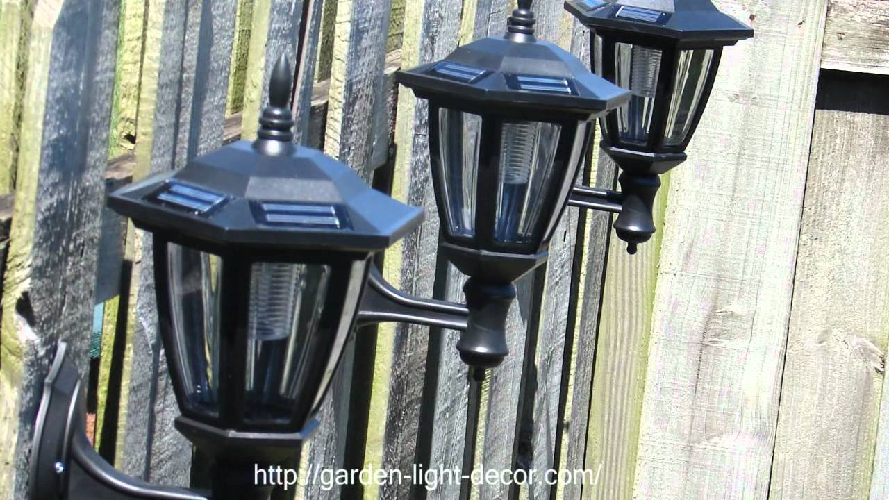 2 Pk Outdoor Garden Solar Wall Mount Landscape Solar Light Brand: Atlantic  Solars   YouTube