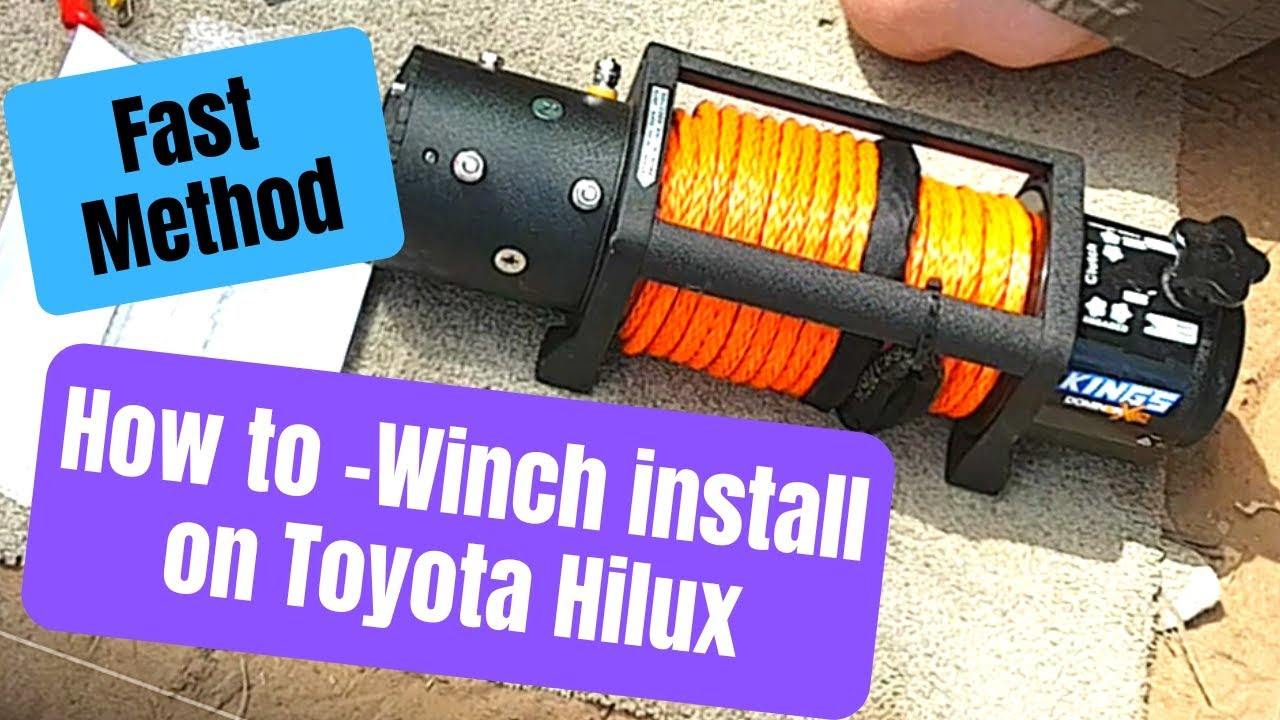 How To Install Kings Domin8r X 12000lb Winch Into A Toyota Hilux Youtube