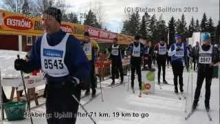 Vasaloppet 2013 (Öppet spår) from start to finish