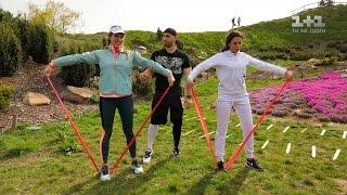 М'ячі, гирі, канати: Настя Каменських показала Каті Осадчій, як тренується у Ботанічному саду