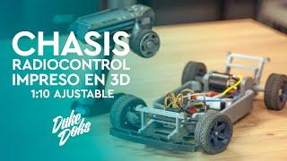 Chasis RADIOCONTROL / Impreso en 3D / Ajustable