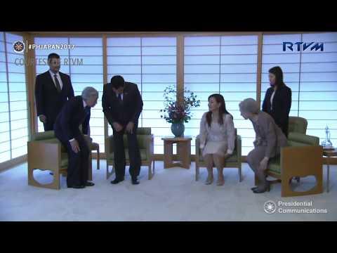 Duterte, Honeylet meet Emperor and Empress of Japan