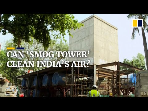 'Smog tower' to help purify New Delhi's polluted air