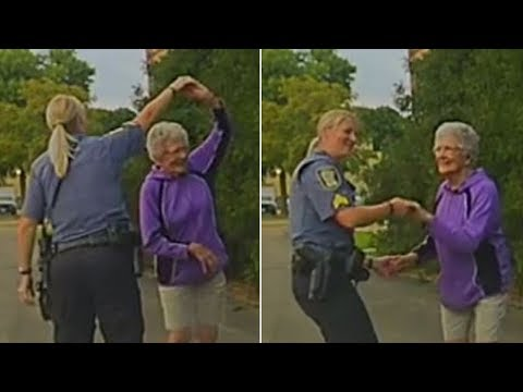 Cop Busts a Move With Lonely 92-Year-Old Woman