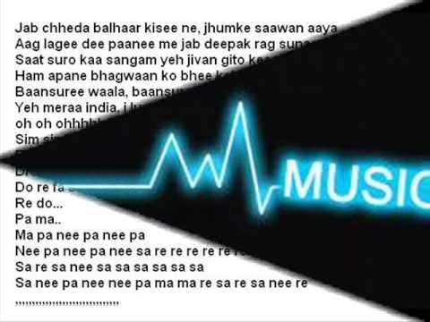 I luv my india ( Pardes ) Free karaoke with lyrics by Hawwa -
