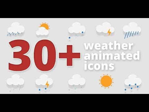 30+ Animated Weather Icons (After Effects Template)
