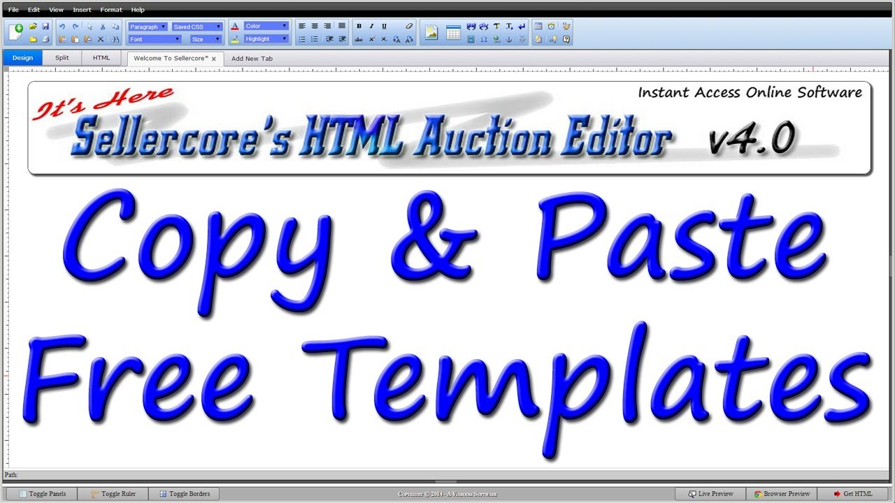 How to make money on ebay by copy pasting any free for Free ebay templates html download