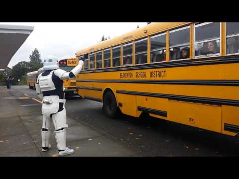 Storm Trooper visits Whitford Middle School