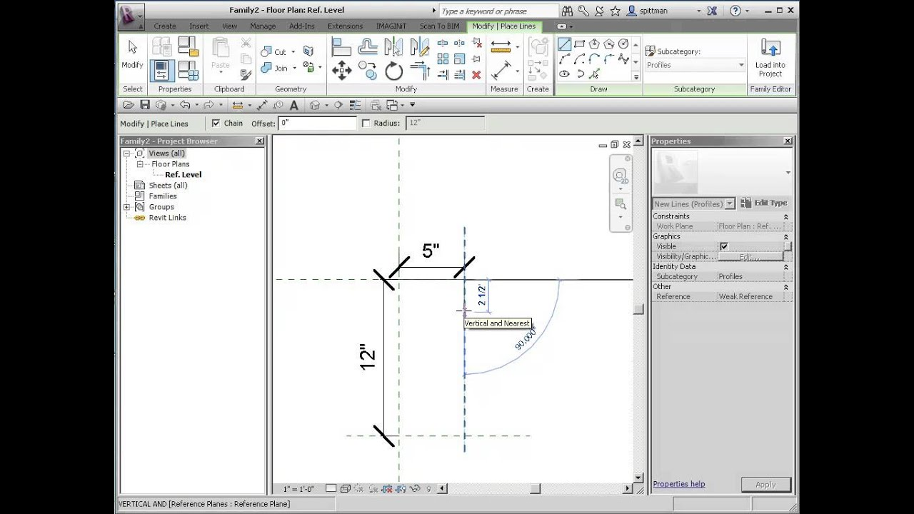 Autodesk Floor Plan Revit How To Create A Profile And Wall Sweep Youtube