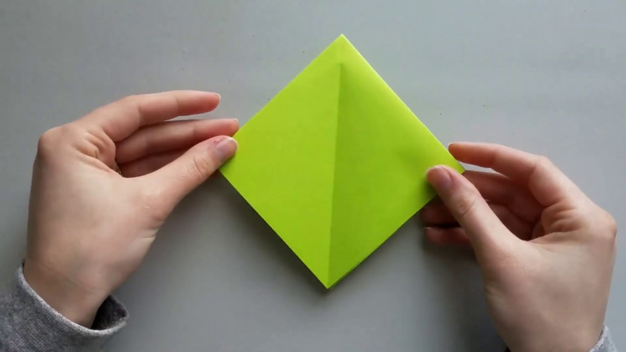 How To Fold An Origami Square Base - Folding Instructions ... | 720x1280