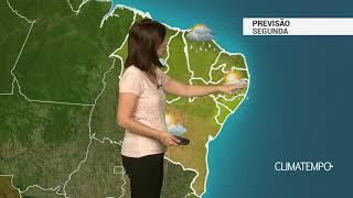 Previsão Nordeste – Pancadas de chuva frequentes na costa norte