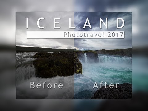 Iceland Phototravel 2017  -  Before and After Photoshop