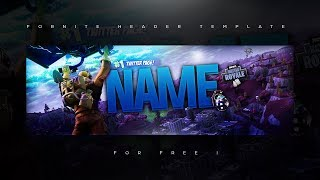 Fortnite HQ Twitter Header Template PSD + Tutorial *FREE*