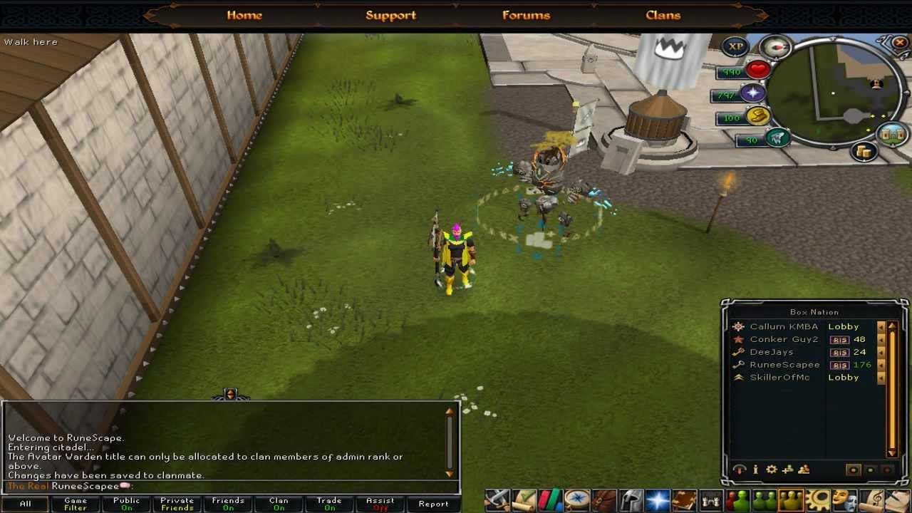 runescape how to join a clan