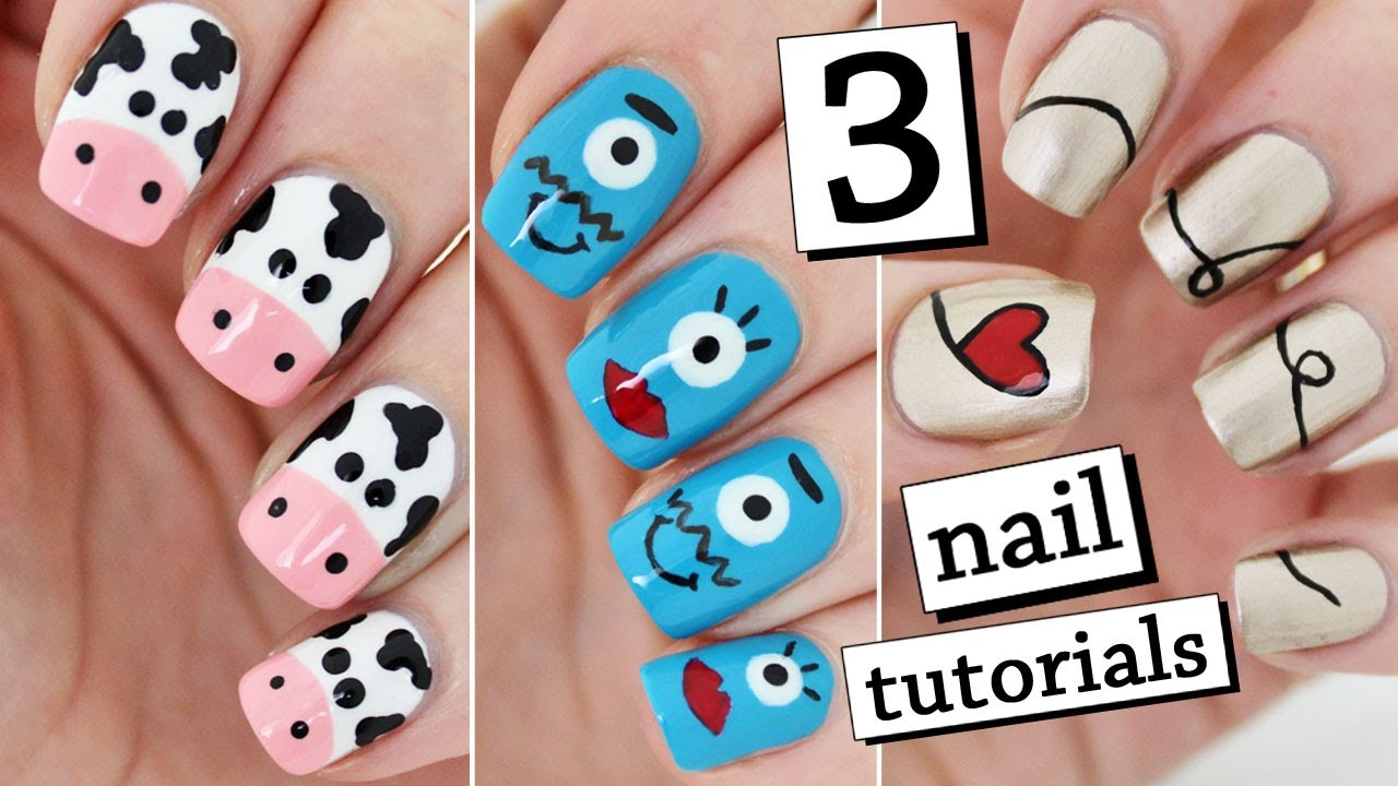 3 EASY NAIL ART TUTORIALS | Recreating My Old Nail Art ...