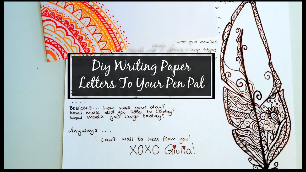 Diy writing paper letters to your pen pal cara giulia youtube altavistaventures Image collections