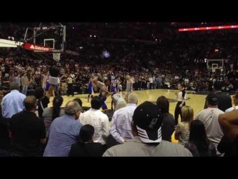 The EPIC finale for the Spurs Vs Warriors game @AT&T Center San Antonio, Tx 5/6/2013
