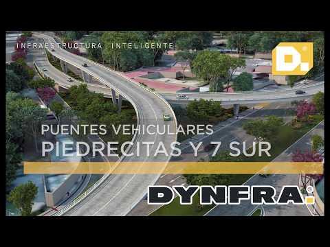 Avance de obra Puentes Vehiculares Piedrecitas y 7 Sur Managua, Nicaragua