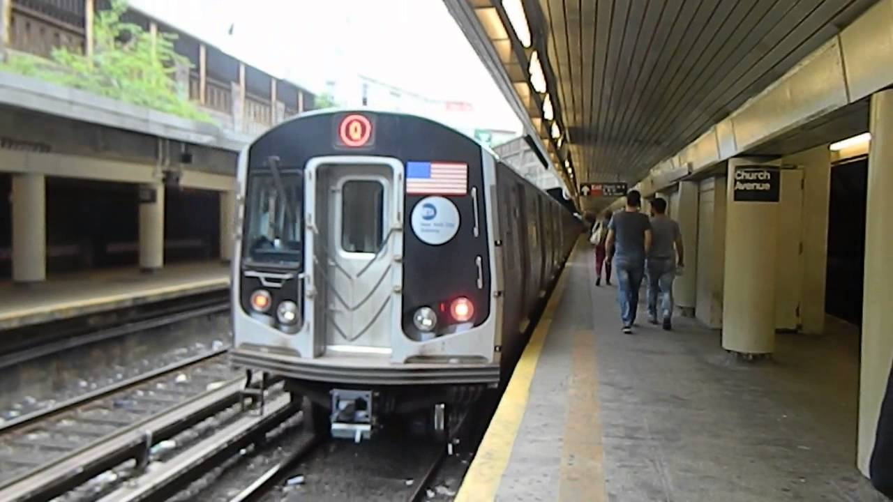 MTA New York City Subway Coney Island Bound R160A-2 (Q ...