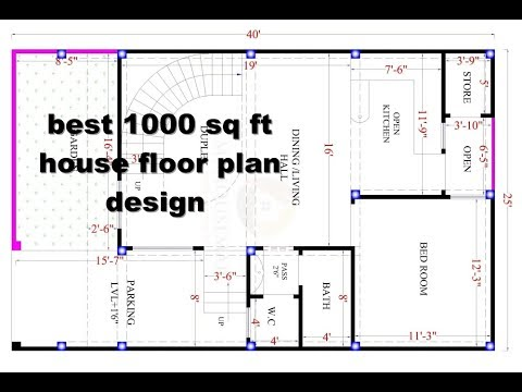 Best 1000 sq ft house design floor plan elevation for 1000 sq ft cabin plans