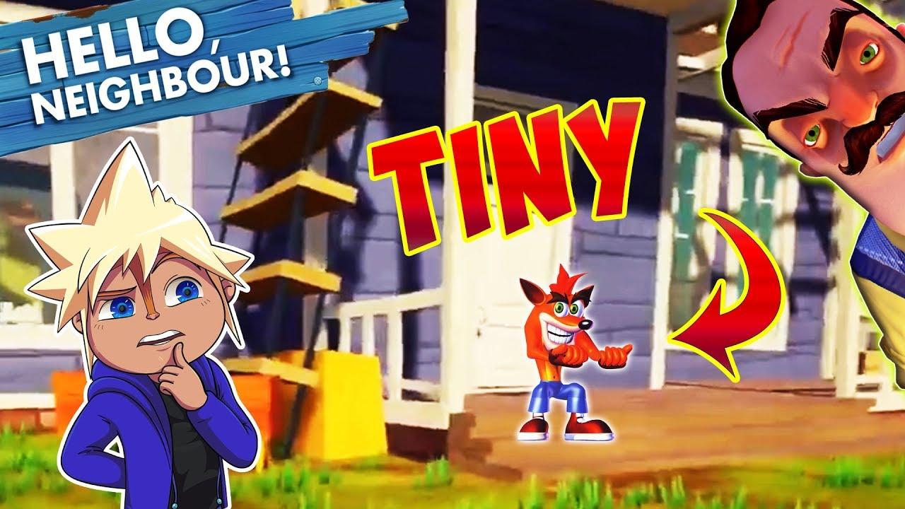 SUPER TINY CRASH BANDICOOT NEIGHBOR :D | Chipmunk Plays Hello Neighbor Mods