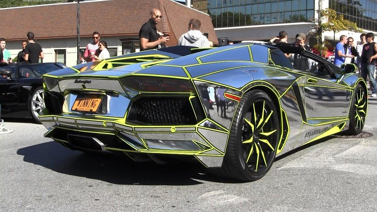 U0027Tronu0027 Lamborghini Aventador LP 700 4   U0027Tronu0027 Gallardo   Murcielago   Gold  Coast Councurs   YouTube