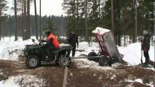 Bobrikovin mökki Pohjasoran vienti saareen Helmikuu 2009.mp4