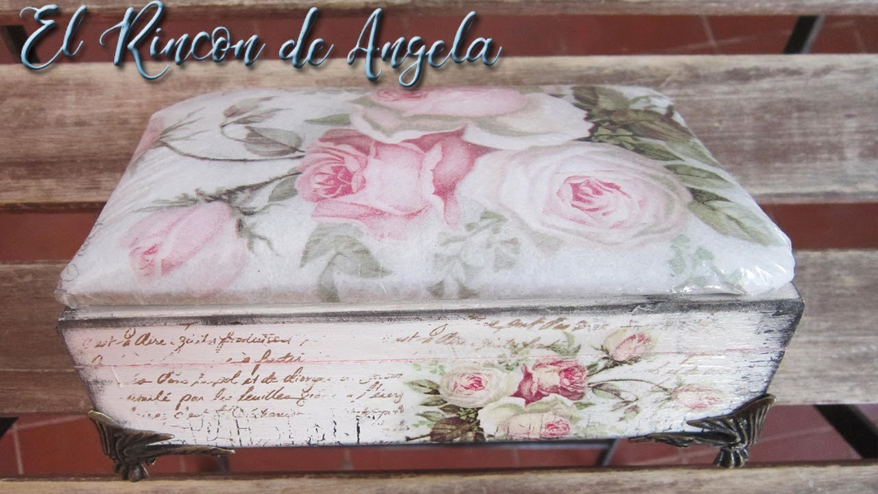 Decoupage italiano decorar un joyero con decoupage italiano diy manualidades youtube - Decorar baul vintage ...