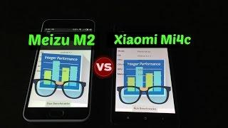 Xiaomi mi4c VS Meizu m2 mini Geekbench test