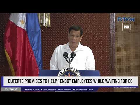 """Duterte promises to help """"endo"""" employees while waiting for EO"""
