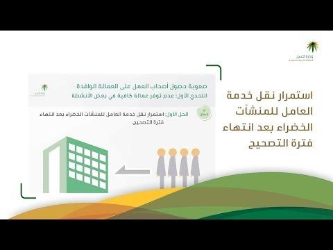 استمرار نقل خدمة العامل للمنشآت الخضراء بعد انتهاء فترة التصحيح