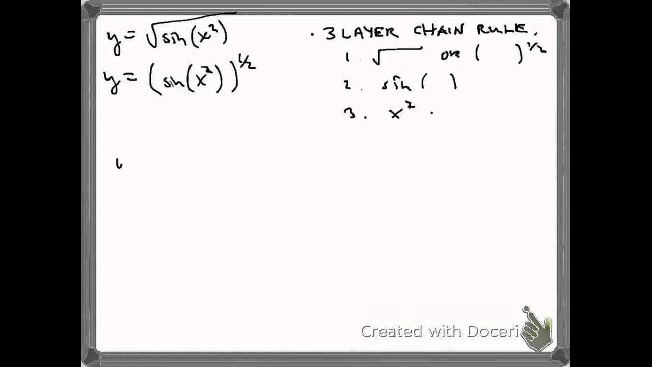 Derivative of sqrt( sin (x^2))) - YouTube