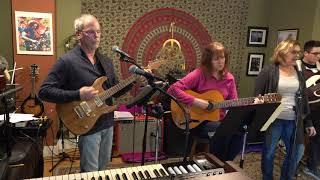 John Cheryl and Robert Performing Losing My Religion Main Street Music and Art Studio