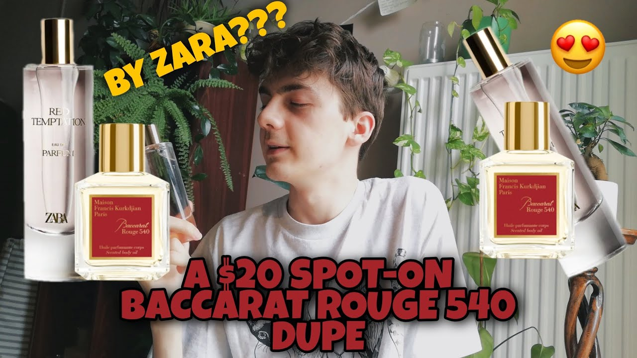 EXTREMELY AFFORDABLE BACCARAT ROUGE 20 DUPE ZARA RED TEMPTATION CHEAP  UNISEX FRAGRANCE CLONE REVIEW