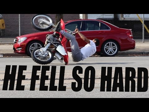 OHH THAT HURTS !! (DIRT BIKE FAIL)