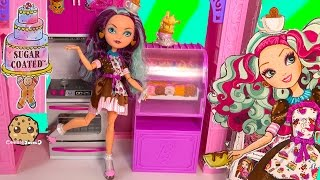 Ever After High Sugar Coated Madeline , Mad Hatter Daughter Doll + Cookieswirlc Fan Blind Bags