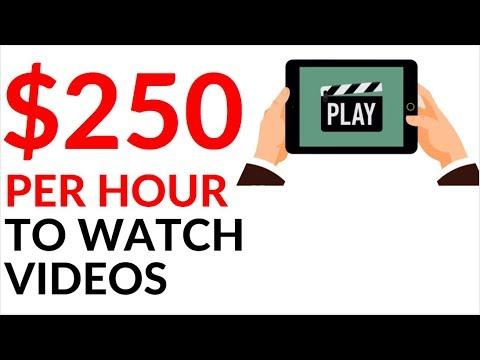 Earn $250.00 in 1 Hour WATCHING VIDEOS! (Make Money Online)