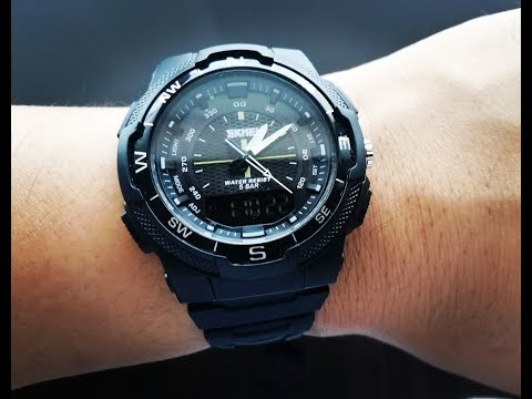 SKMEI 1454 - Affordable Elegant Dual Time Waterproof Watch